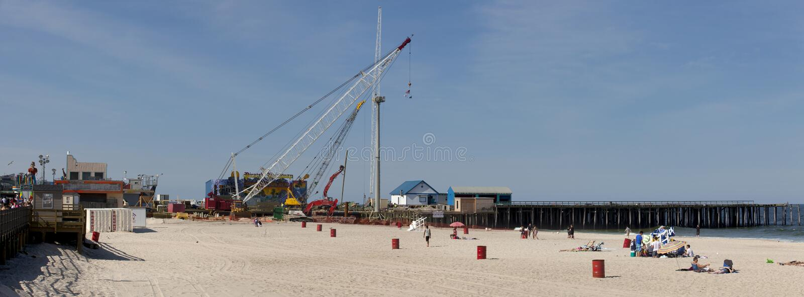 Download Hurricane Sandy Recovery In Seaside Heights, New Jersey Editorial Photo - Image of disaster, outdoors: 31553436
