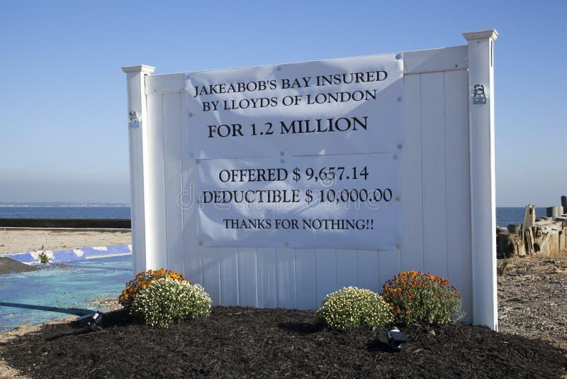 Hurricane Sandy - 1 Year Later Union Beach Editorial Stock Photo
