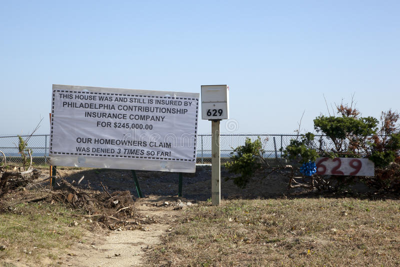 Download Hurricane Sandy - 1 Year Later Union Beach Editorial Photo - Image: 34433871