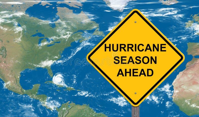 Hurricane Season Ahead Caution Sign royalty free stock images