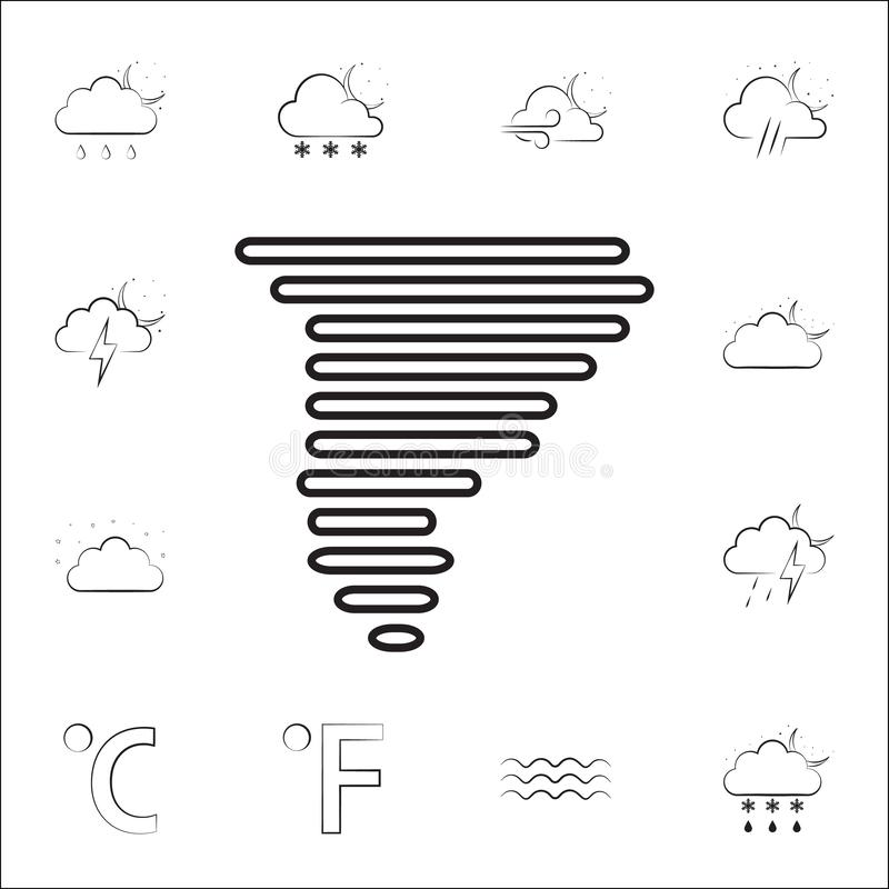 hurricane sign icon. Weather icons universal set for web and mobile royalty free illustration