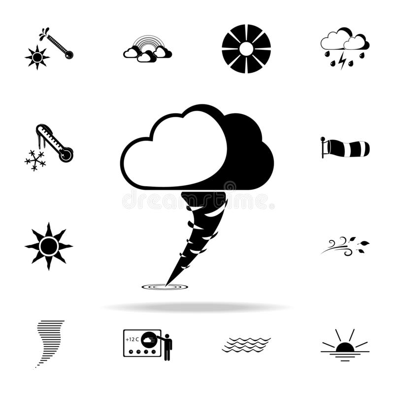 Hurricane sign icon. Weather icons universal set for web and mobile vector illustration