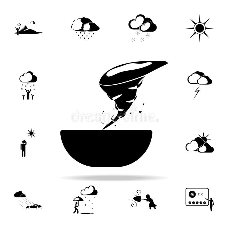 Hurricane sign icon. Weather icons universal set for web and mobile stock illustration