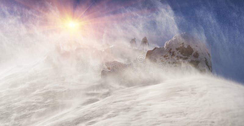 Hurrikan auf die Oberseite lizenzfreies stockfoto