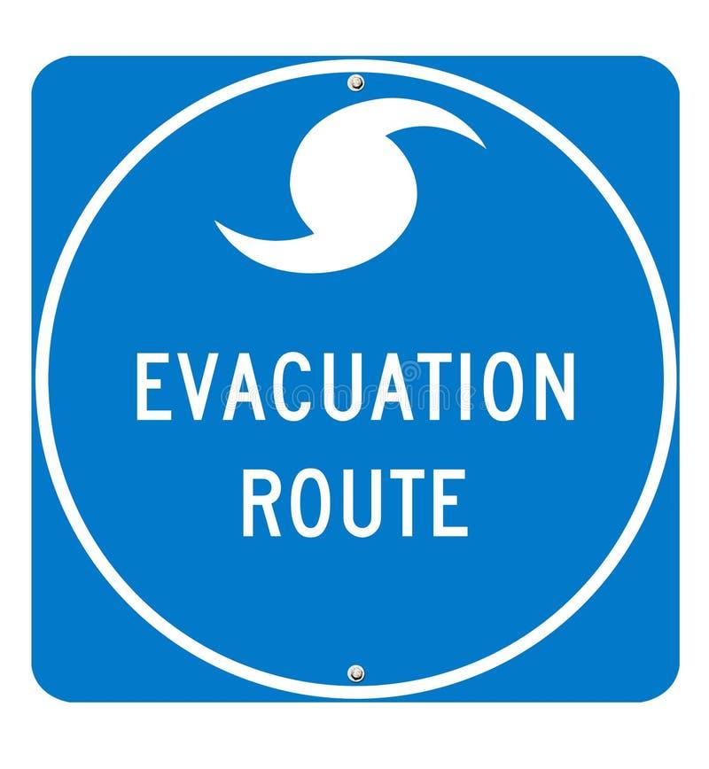 Hurrikan-Evakuierung-Weg-Zeichen lizenzfreie abbildung
