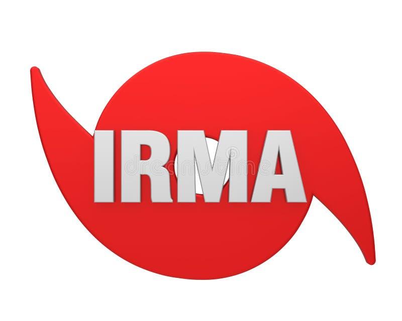 Hurrikan Irma Symbol Isolated stock abbildung