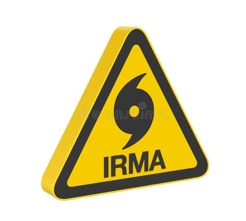 Hurrikan Irma Warning Sign Isolated lizenzfreie abbildung