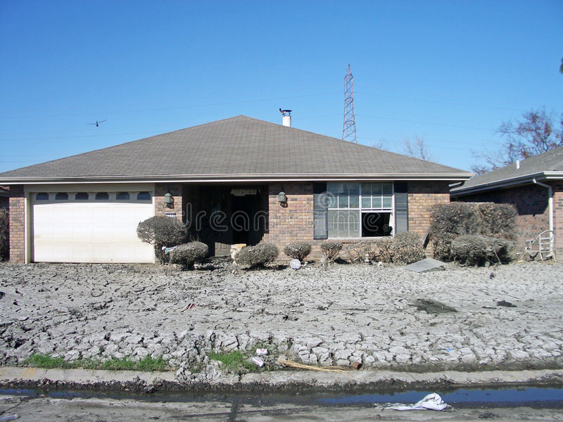 Hurrikan Katrina verhärtete Schlamm lizenzfreies stockbild