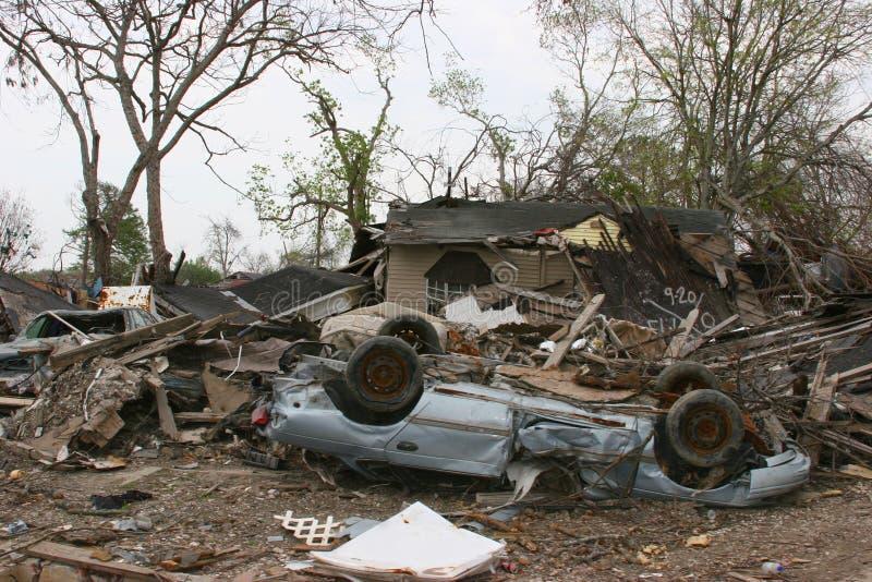 Hurrikan-Katrina-Zerstörung lizenzfreies stockfoto