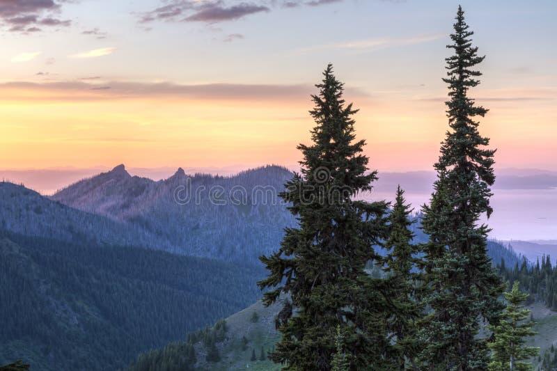 Hurrikan Ridge Sunset lizenzfreie stockfotos