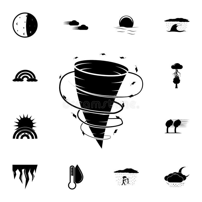 Hurrikanikone Ausführlicher Satz Wetterikonen Erstklassiges Grafikdesign Eine der Sammlungsikonen für Website, Webdesign, Mobil vektor abbildung