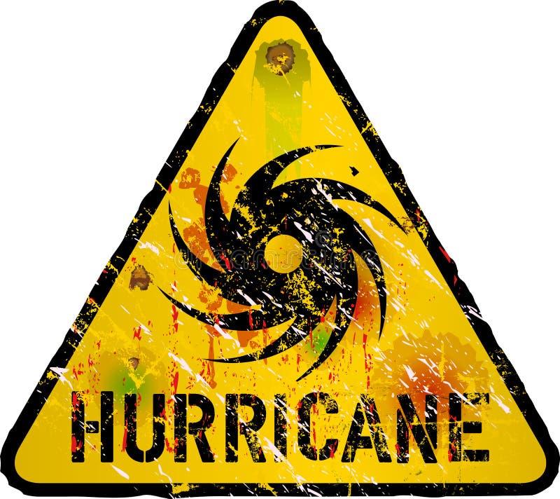Hurrikanwarnung lizenzfreie abbildung