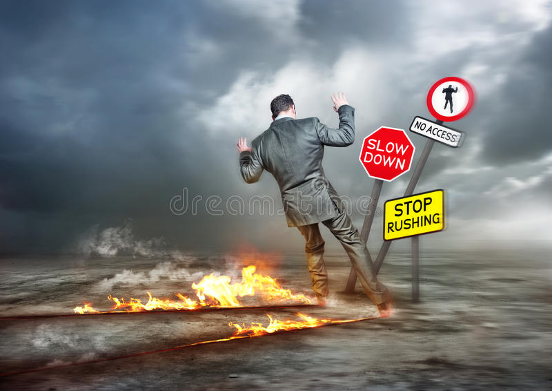 Hurry Up and Slow Down stock image