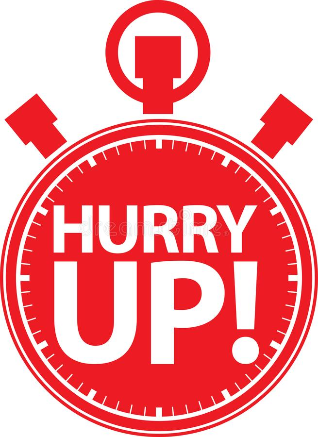 Hurry up stopwatch icon, vector vector illustration