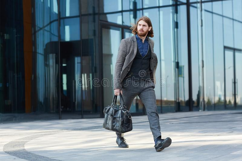 Hurrying to airport royalty free stock photography