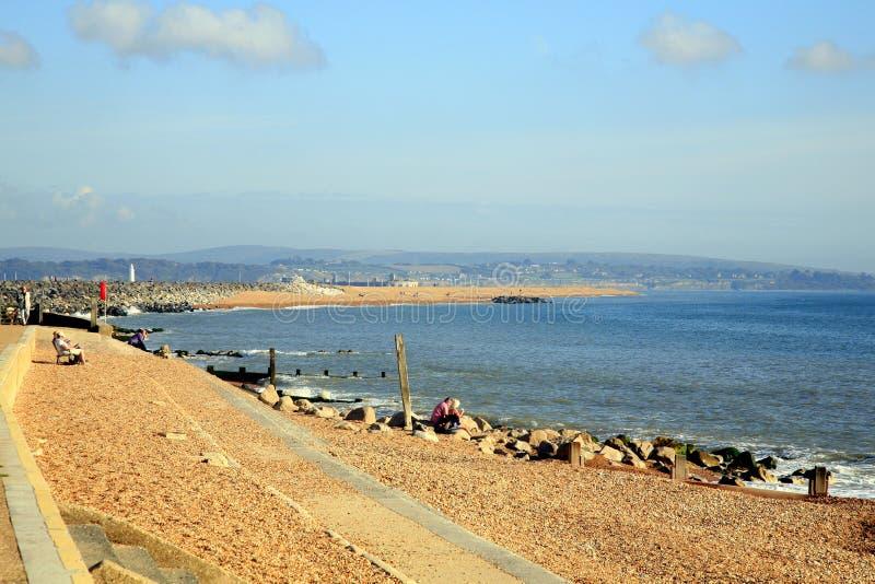 Hurst mierzeja, Milford na morzu, Dorset obraz stock