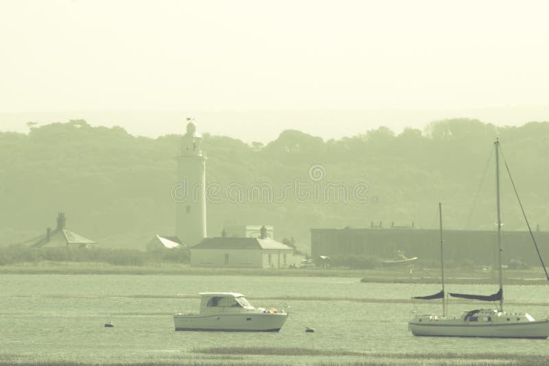 Hurst Point Lighthouse and Hurst Castle royalty free stock image