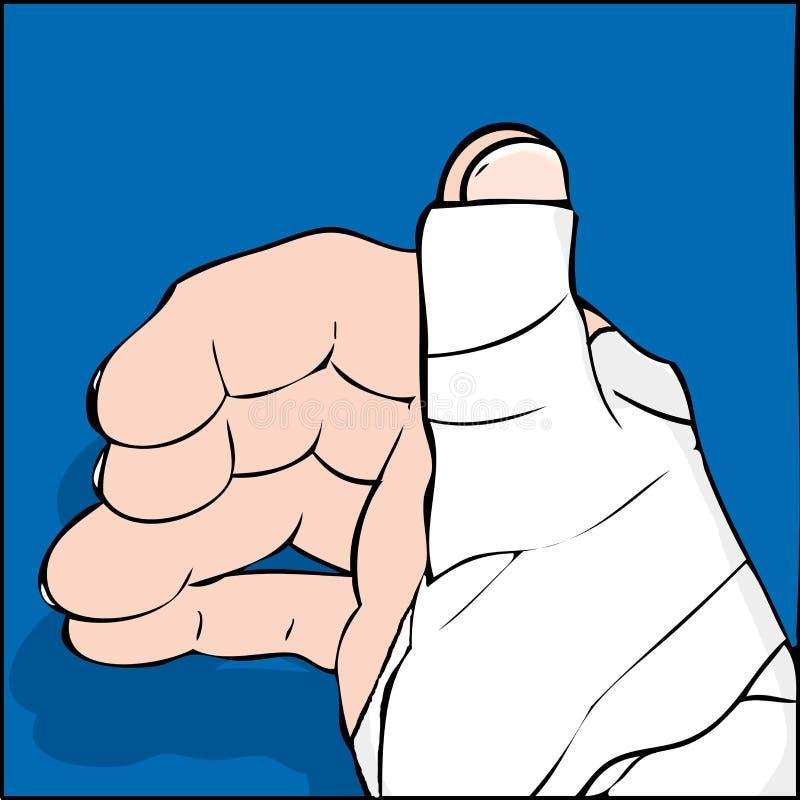 Download Hurt thumb stock illustration. Illustration of wrapped - 33955292