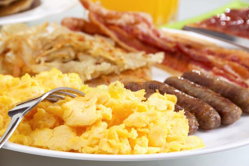 hurtig frukost royaltyfri bild