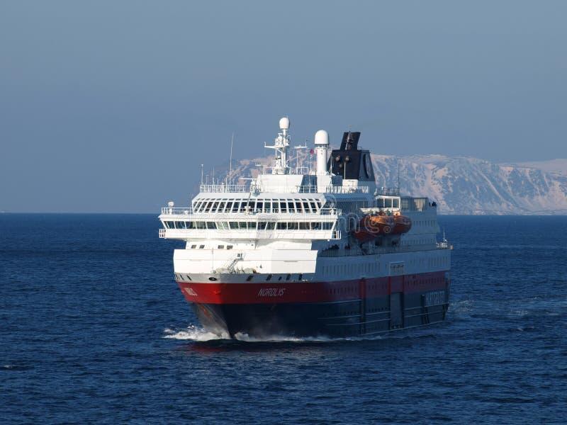 Hurtigruten. Cruise Hurtigruten Norway Coast Winter stock images