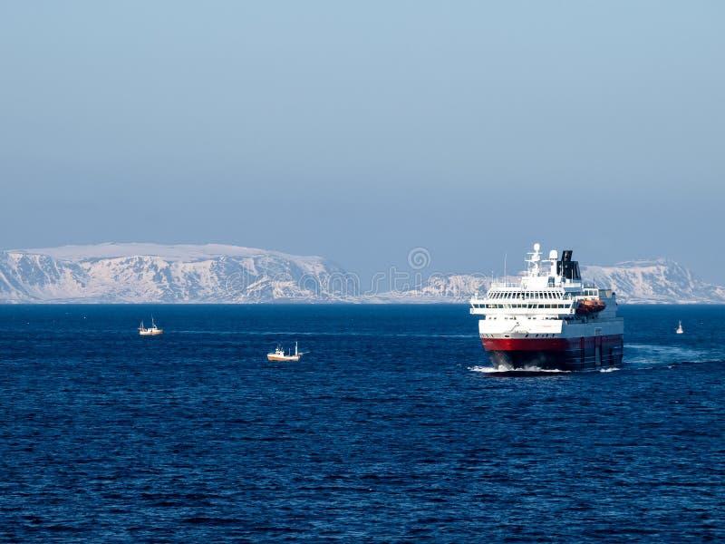 Hurtigruten Norway. Cruise in Winter stock image
