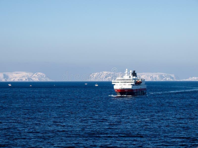 Hurtigruten Norway. Cruise in Winter stock photo