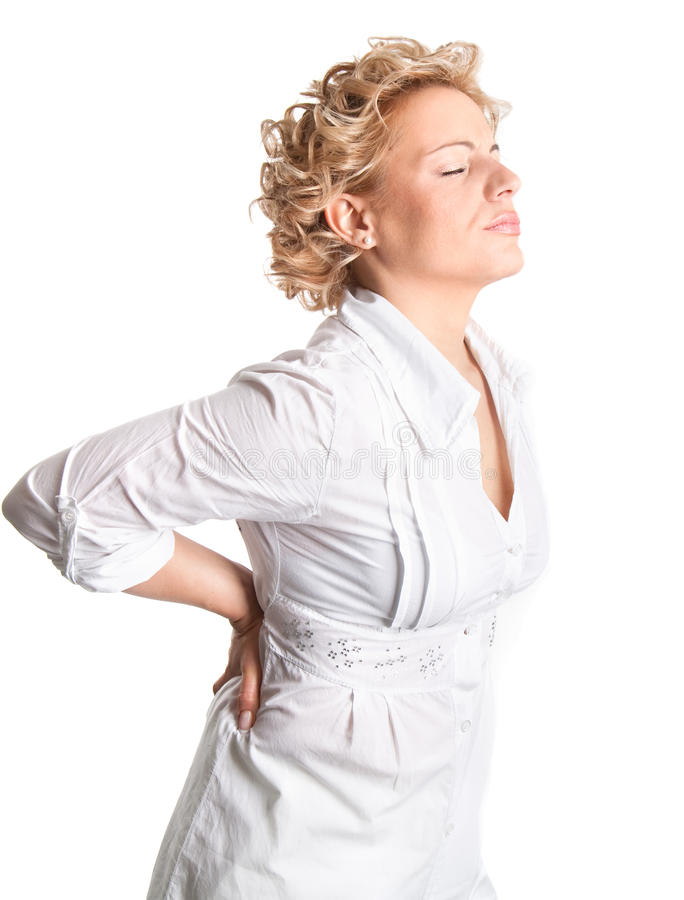 Hurting back pain stock photo
