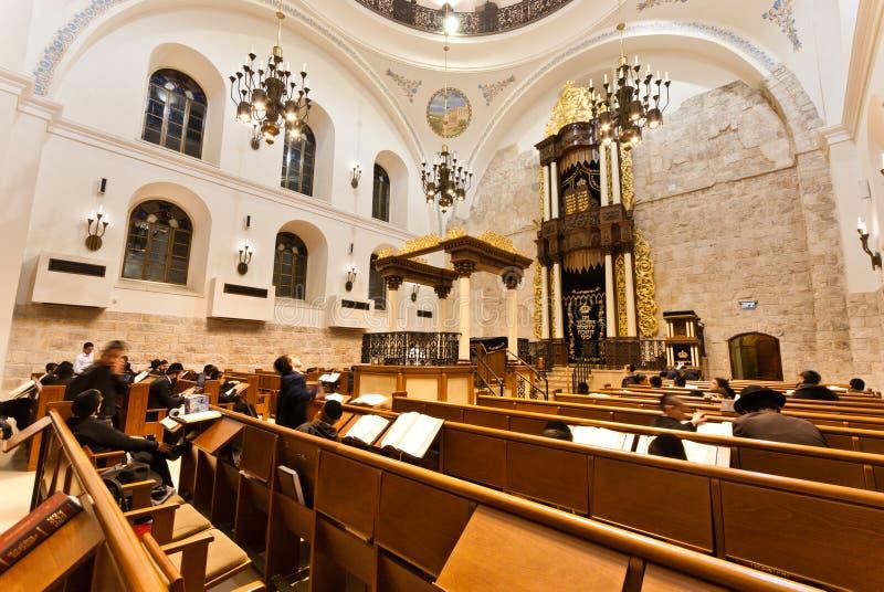 Hurva Synagogue - Jerusalem stock images