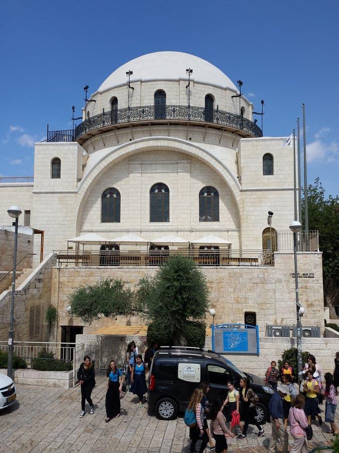 Hurwa-Synagoge Jerusalem stockbild
