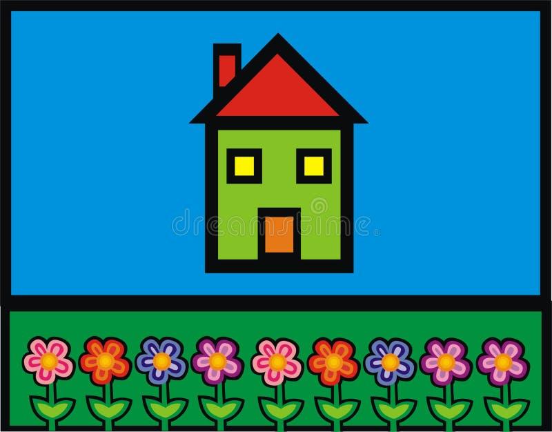 Download Hus stock illustrationer. Illustration av natur, rött, kronärtskockan - 508945