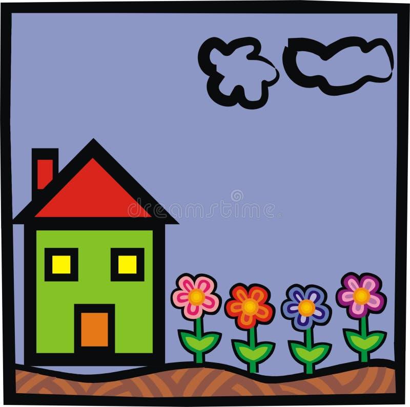 Download Hus stock illustrationer. Illustration av dwelling, jordning - 509076