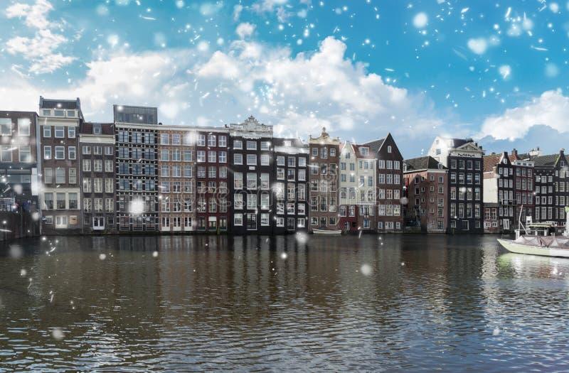 Hus av Amstardam, Nederländerna royaltyfri fotografi