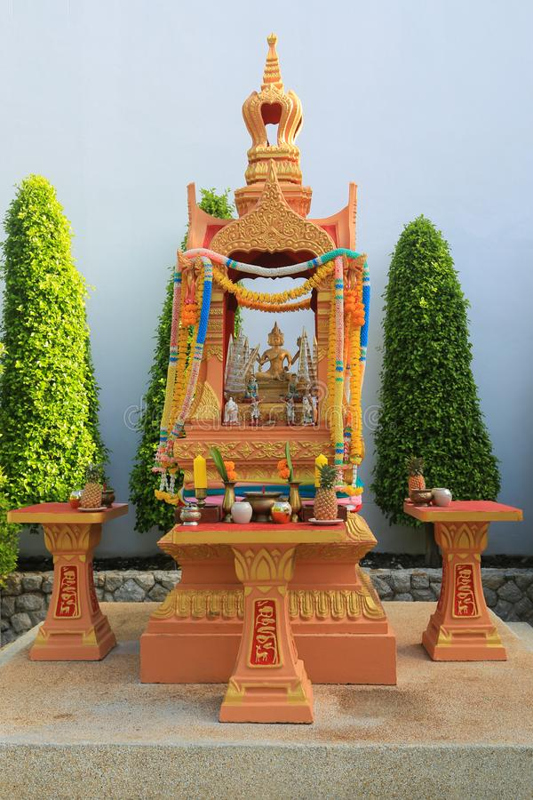 Hus av andar i Thailand arkivbilder