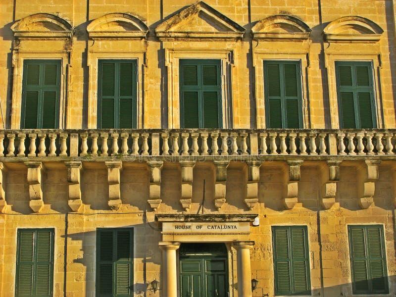 Hus av Catalunya, Malta arkivbild
