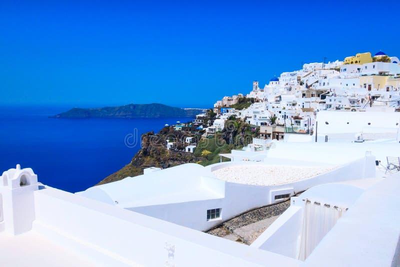 Hus av den Santorini ?n i Grekland arkivfoto