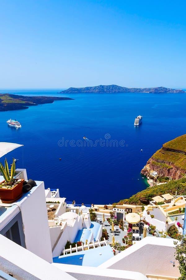Hus av den Santorini ?n i Grekland royaltyfri foto