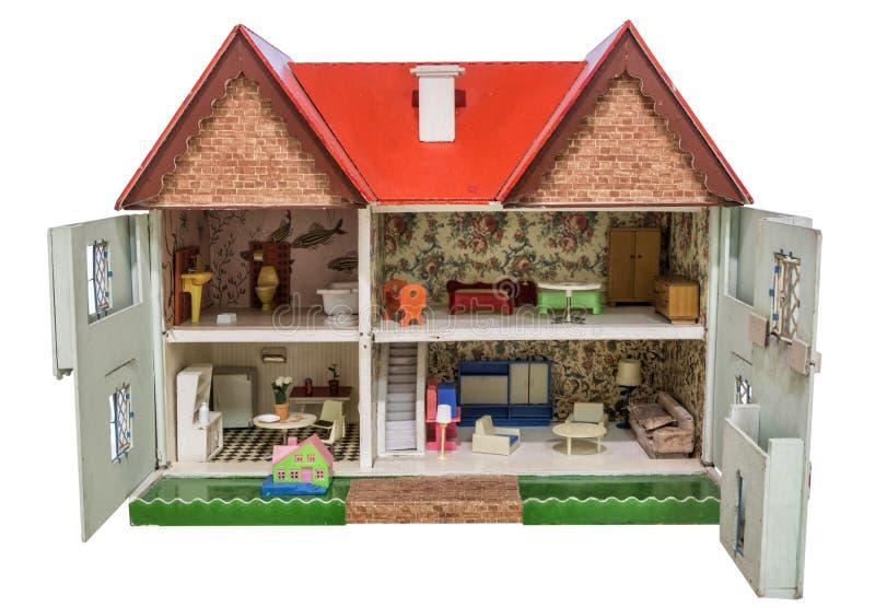 Hus av dockor royaltyfria bilder