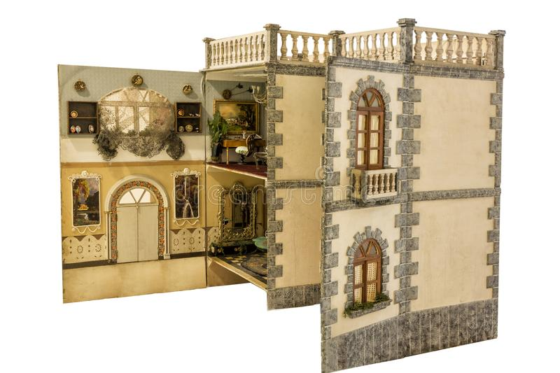 Hus av dockor royaltyfri foto