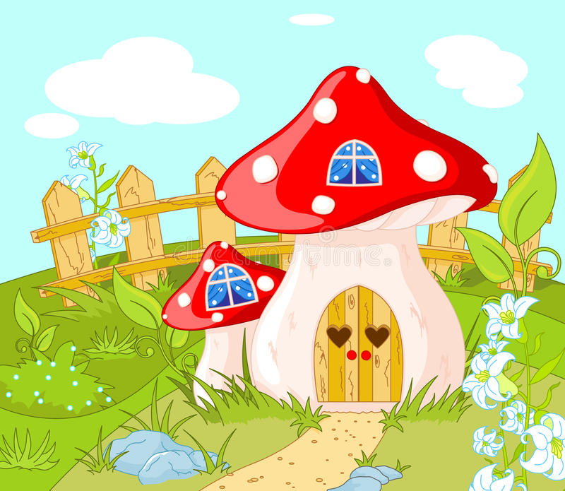 Hus av gnomen vektor illustrationer