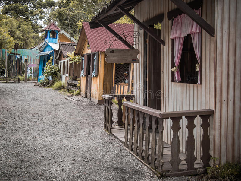 Hus av invandrare royaltyfri bild
