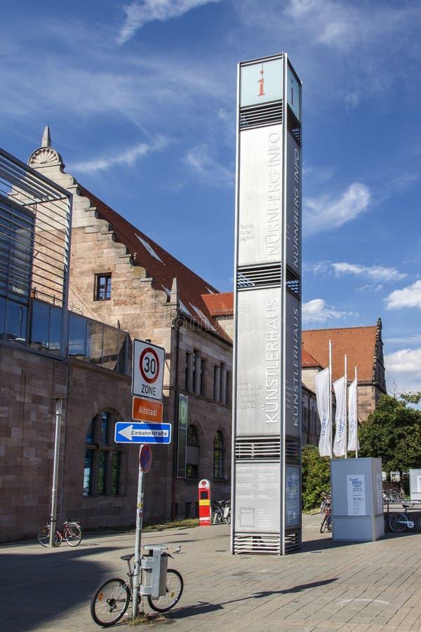 Hus av konstnärer i Nuremberg, Tyskland, 2015 arkivbilder