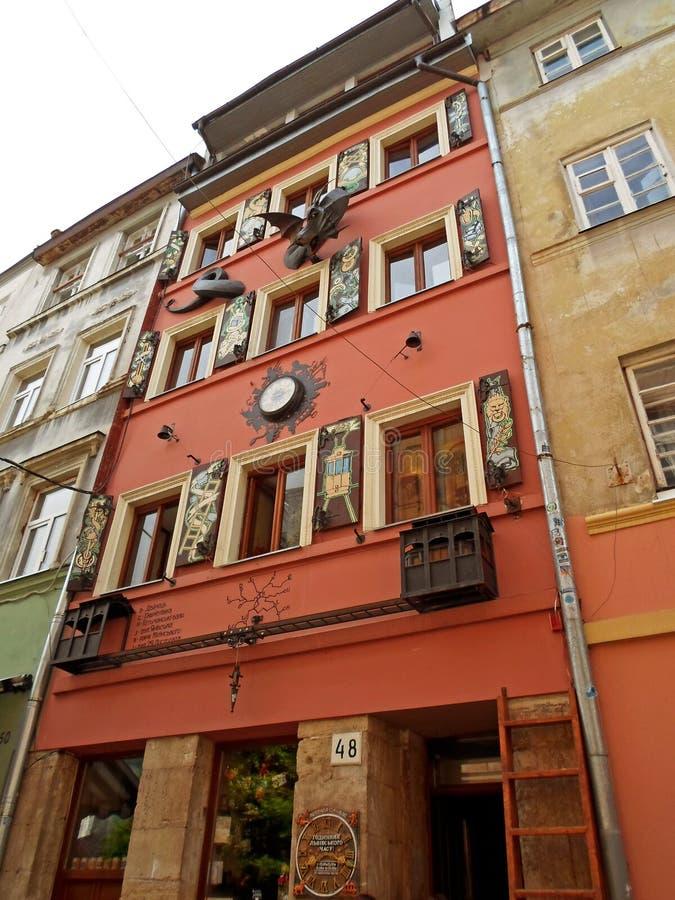 Hus av legender i Lviv royaltyfria bilder