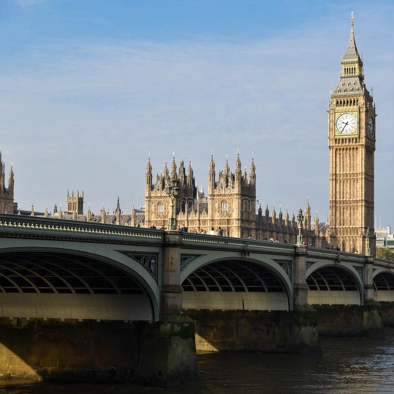 Hus av parlamentet Big Ben arkivfoto