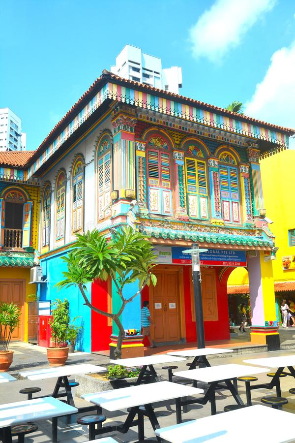Hus av Tan Teng Niah Little India Singapore royaltyfri foto