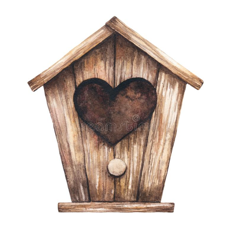 Hus för fåglarna royaltyfri illustrationer