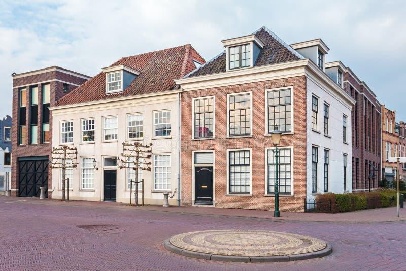 Hus för forntida stad i Amersfoort, Nederländerna royaltyfri foto