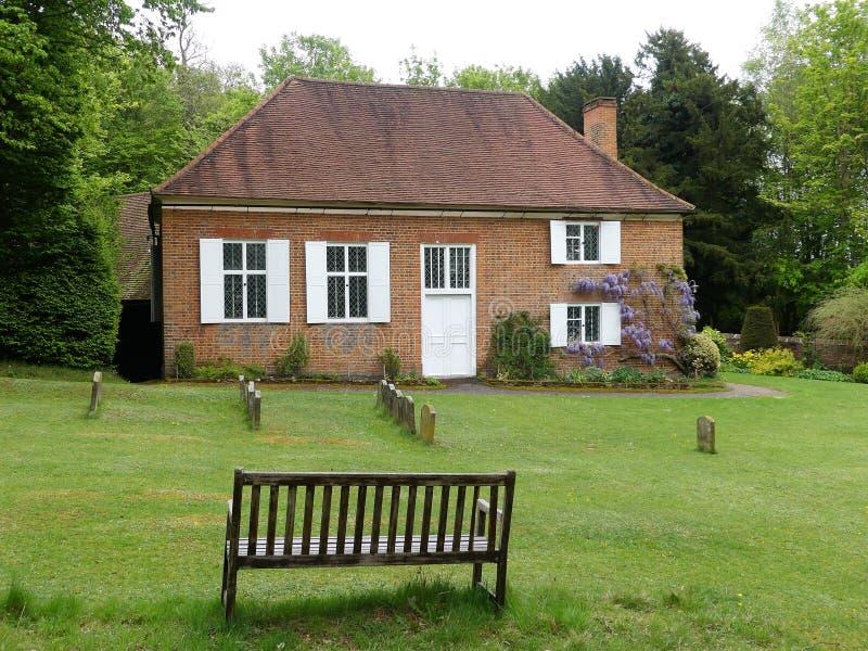 Hus för kväkarevänmöte på Jordanien, Buckinghamshire, England, UK arkivbilder