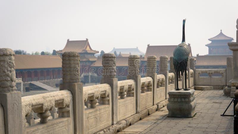 Hus för Reginald Johnston ` s inom Forbiddenet City, Peking, Kina arkivbilder