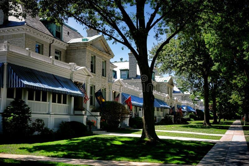 Hus för sjö- akademi för Förenta staterna i den Annapolis medicine doktorn royaltyfri foto