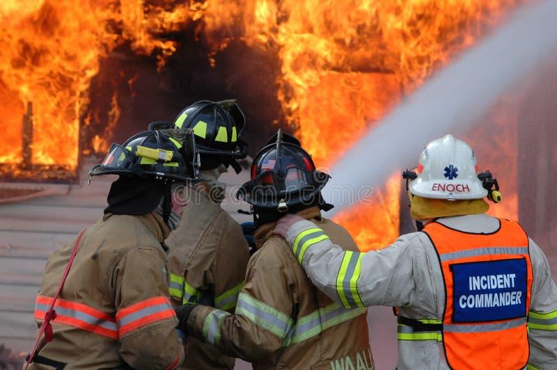 hus för stridbrandbrandmän arkivfoto